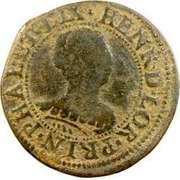 Double-Tournois Henriette de Lorraine (Principauté de Phalsbourg et Lixheim, Type 1) – avers