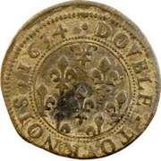 Double-Tournois Henriette de Lorraine (Principauté de Phalsbourg et Lixheim, Type 1) – revers