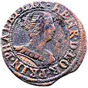 Double-Tournois Henriette de Lorraine (Principauté de Phalsbourg et Lixheim, Type 2) – avers