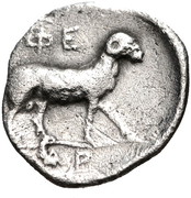 Obol (Pheneos) – revers