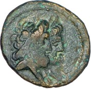 Dichalque d'Arados (Zeus et Héra, Athéna sur proue de galère) – avers