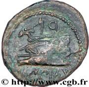 Dichalque d'Arados (Zeus et Héra, Athéna sur proue de galère) – revers