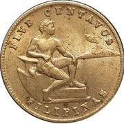 5 centavos (administration américaine) -  revers