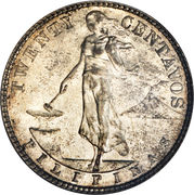 20 centavos (administration américaine) -  avers