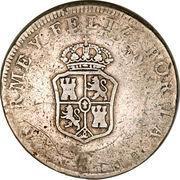 8 reales - contremarque Manila (PEROU) – avers