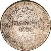 8 reales - contremarque Manila (PEROU) – revers