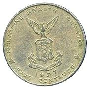 5 centavos (Léproserie de l'île de Culion) -  revers