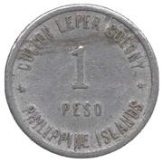 1 peso  (Léproserie de l'île de Culion) – avers
