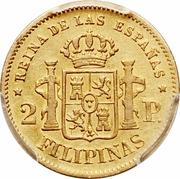 2 pesos - Isabella II -  avers
