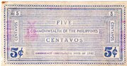 5 Centavos (Negros Occidental) – revers