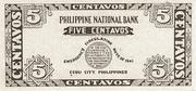 5 Centavos (Cebu) – revers