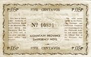 5 Centavos (Mountain Province) – revers