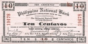 10 Centavos (Negros Occidental; Second issue) – avers