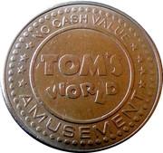 Tom's World Amusement Token (Type 3) – revers