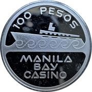 100 pesos - Manila Bay Casino – avers