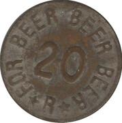20 centavos - jeton de bière – avers