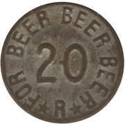 20 centavos - jeton de bière – revers