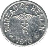 ½ centavo (Léproserie de l'île de Culion) – revers