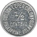 ½ centavo (Léproserie de l'île de Culion) -  avers