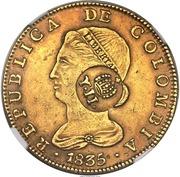 8 Escudos - Isabel II (Contremarquée) – avers