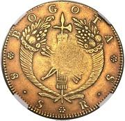 8 Escudos - Isabel II (Contremarquée) – revers