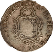 8 reales Isabella II (countermarked) – avers