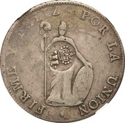 8 reales Isabella II (countermarked) – revers