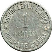 1 centavo (Léproserie de l'île de Culion) – avers