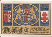 1 Mark  (Philippsthal) – avers
