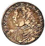 1 testone - Ranuccio II – avers