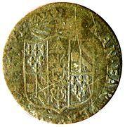 5 soldi Ranuccio II Farnese – avers