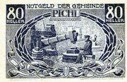 80 Heller (Pichl bei Windischgarsten; Blue issue) -  avers