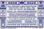 80 Heller (Pichl bei Windischgarsten; Blue issue) -  revers