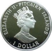 1 dollar - Elizabeth II (Établissement des colonies) – avers