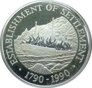 1 dollar - Elizabeth II (Établissement des colonies) – revers