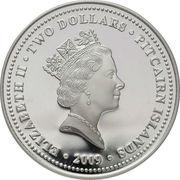 2 dollars - Elizabeth II (3eme effigie - capitaine William Bligh) – avers
