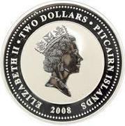 2 dollars Elizabeth II (HMAV Bounty; Colorized) – avers