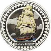 2 dollars Elizabeth II (HMAV Bounty; Colorized) – revers