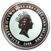 2 dollars Elizabeth II (Année du rat) – avers