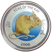 2 dollars Elizabeth II (Année du rat) – revers