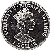 1 dollar - Elizabeth II (3eme effigie - colonie) -  avers