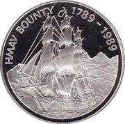 1 dollar Elizabeth II (H.M.A.V. Bounty) – revers