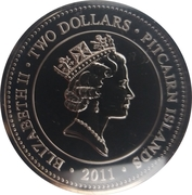 2 Dollars - Elizabeth II (Lifetime of Service) – avers