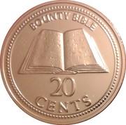 20 cents - Elizabeth II (3eme effigie - bible du Bounty) – revers