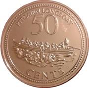 50 cents - Elizabeth II (3eme effigie - canot du Bounty) – revers