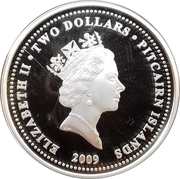 2 dollars Elizabeth II (Year of the Ox; partially gilted) – avers