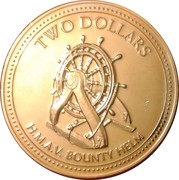 2 dollars - Elizabeth II (3eme effigie - barre du Bounty) – revers