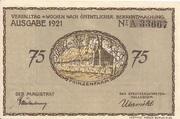 75 Pfennig (Plön) – avers