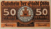 50 Pfennig Plön – avers