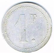1 Franc Sté Cons Manufacture de PLOMBIERES-LES-BAINS (88) – revers